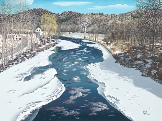 """""""Icy Battenkill"""" by Jacob Houston is among the works"""