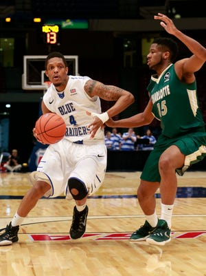 Xavier Habersham (4) and the Blue Raiders were able to top Charlotte and advance to the C-USA semifinals.