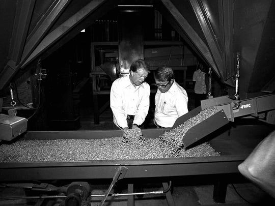 Jimmy Carter, a Georgia peanut farmer, naturally served