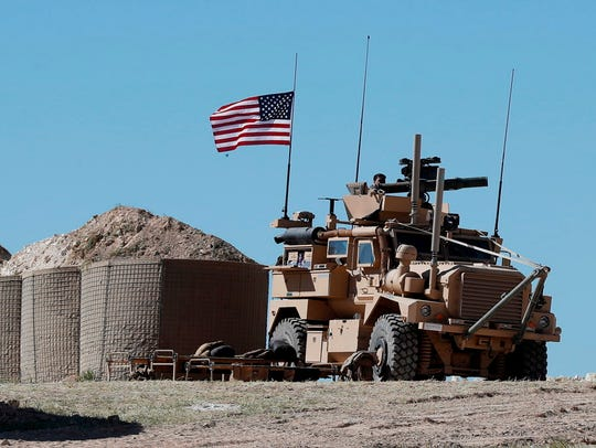 A U.S. military position in northern Syria on April