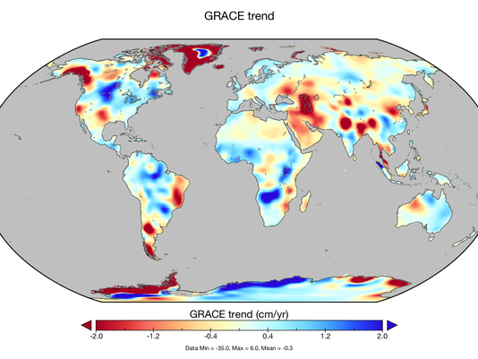 Global GRACE map