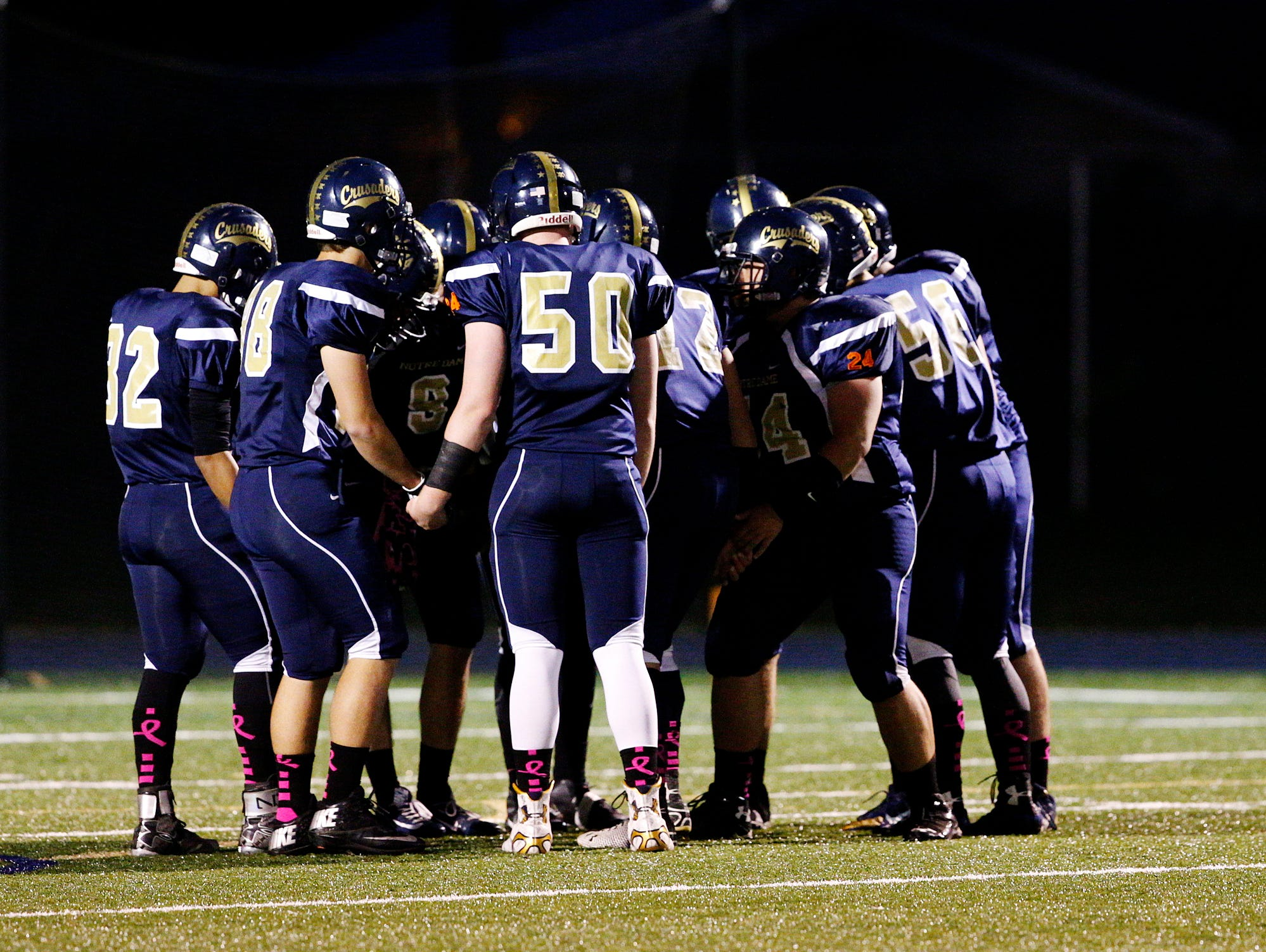 The Notre Dame Crusaders took on the Groton Indians Friday night on the Crusader's field.