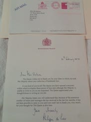 Mary Salmon recently received a letter from Buckingham