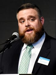 Downtown Inc. CEO Silas Camberlin speaks during the