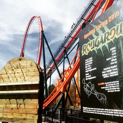 """Rougarou"" at Cedar Point opens Spring 2015."