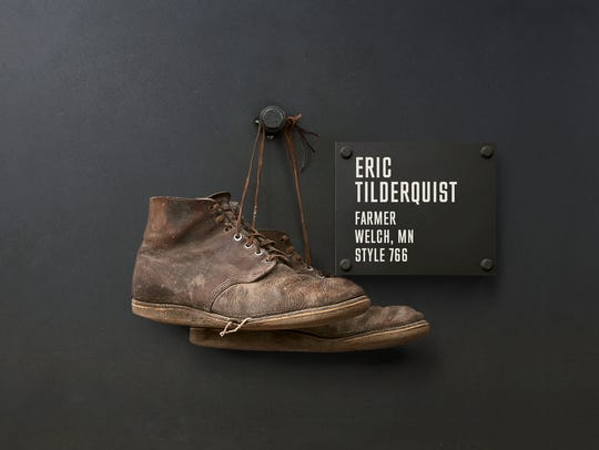 Farmer Eric Tilderquest is among 32 customers that were chosen to highlight their stories along with their boots, on a permanent, physical Wall of Honor at its flagship store in Red Wing, MN. Due to the rough shape of Tilderquist's barn boots, the company agreed to let his grandfather, Conley Tilderquist's boots hang on the wall instead.
