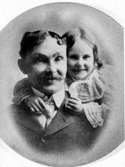 Michael Deeley with his daughter Margaret circa 1900.