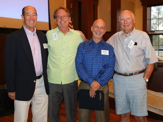Bob Calhoun, left, Doug Davis, Sam Rutland and Richard
