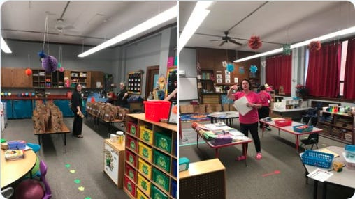 Pre-k teachers at USD 382 prepare lessons for their students which are shared in learning packed in accordance with the new Continuous Learning Plan in place for the district.