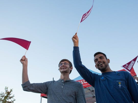 Blake Gadbury, left, and Javier Acosta, right, both