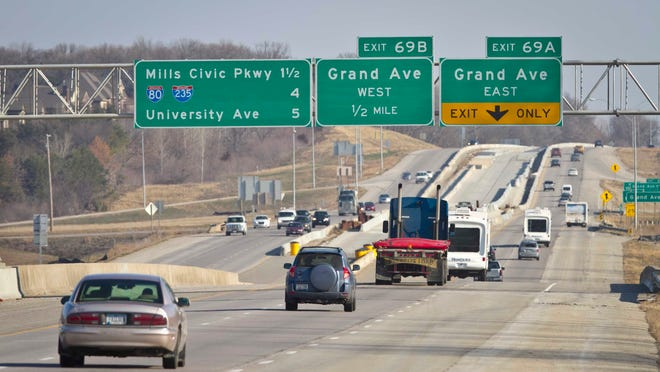 Widening of Interstate Highway 35.