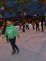 An outdoor skating rink downtown has been one of the big draws for Alex Winter Fête.