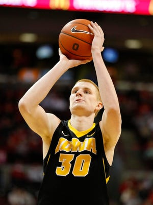 Aaron White practiced Friday,  but doctors will do a follow up  before the game against No. 5 Wisconsin on Saturday.