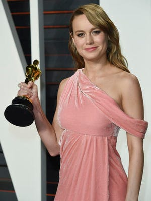 "FILE - In this Feb. 28, 2016 file photo, ""Best Actress"" winner Brie Larson arrives at the Vanity Fair Oscar Party in Beverly Hills, Calif.  The Academy of Motion Pictures Arts and Sciences announced Friday, Jan. 13, 2017, that Oscar-winning actress Larson will help announce this year's Oscar nominees at a presentation on Tuesday, Jan. 24."