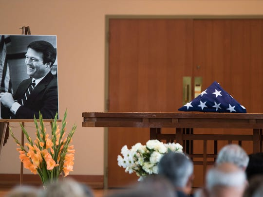 Judge James Kingsley's funeral was at the Goodrich Chapel in Albion Saturday afternoon.