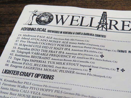 Known as the Well Report, the what's-on-tap list at