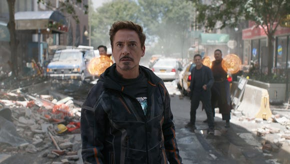 Tony Stark (Robert Downey Jr.) leads the troops in