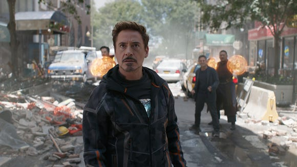 "Tony Stark (Robert Downey Jr.) leads the troops in ""Avengers: Infinity War."""