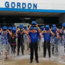 Thirty-five members of the Gordon Chevrolet did a group ice bucket challenge to benefit the the ALS Foundation.