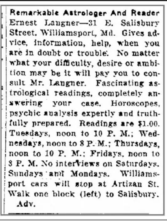 Franklin Langner advertisement