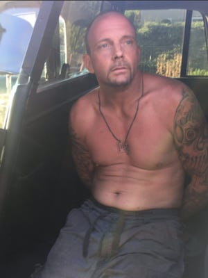 Lawrence Huhne, 39, was arrested in Moorpark on Tuesday evening after an extensive search for the stolen vehicle suspect.