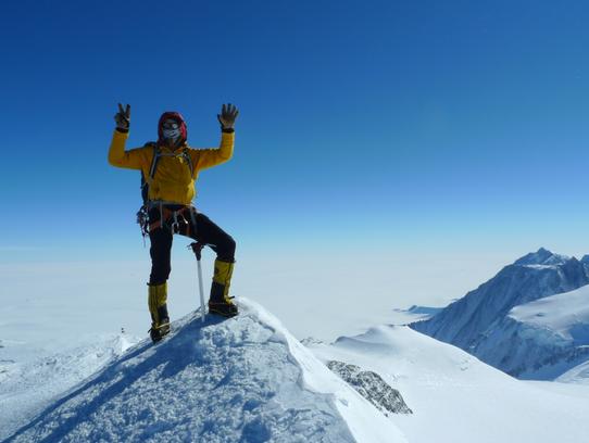 Mt. Vinson in Antarctica was the final peak for Frey