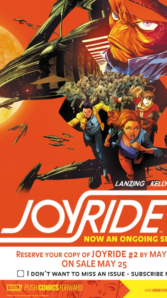 Cover of Joyride issue #2.