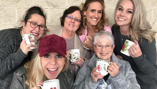 Fairview is invited to meet the cast of the upcoming Fairview Community Theater production of Steel Magnolias November 14 at First District Coffee Co. Front row - Mariah Wolitski, June Churchman; back row - Sarina Jeske, Linda Wheeler, Kate Horner, Brooklyn Hughes.