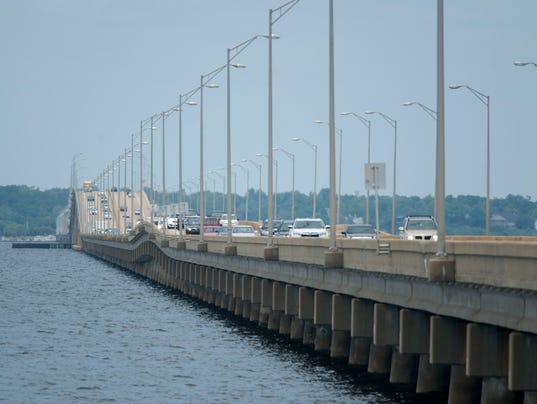 Pensacola Bay Bridge Traffic