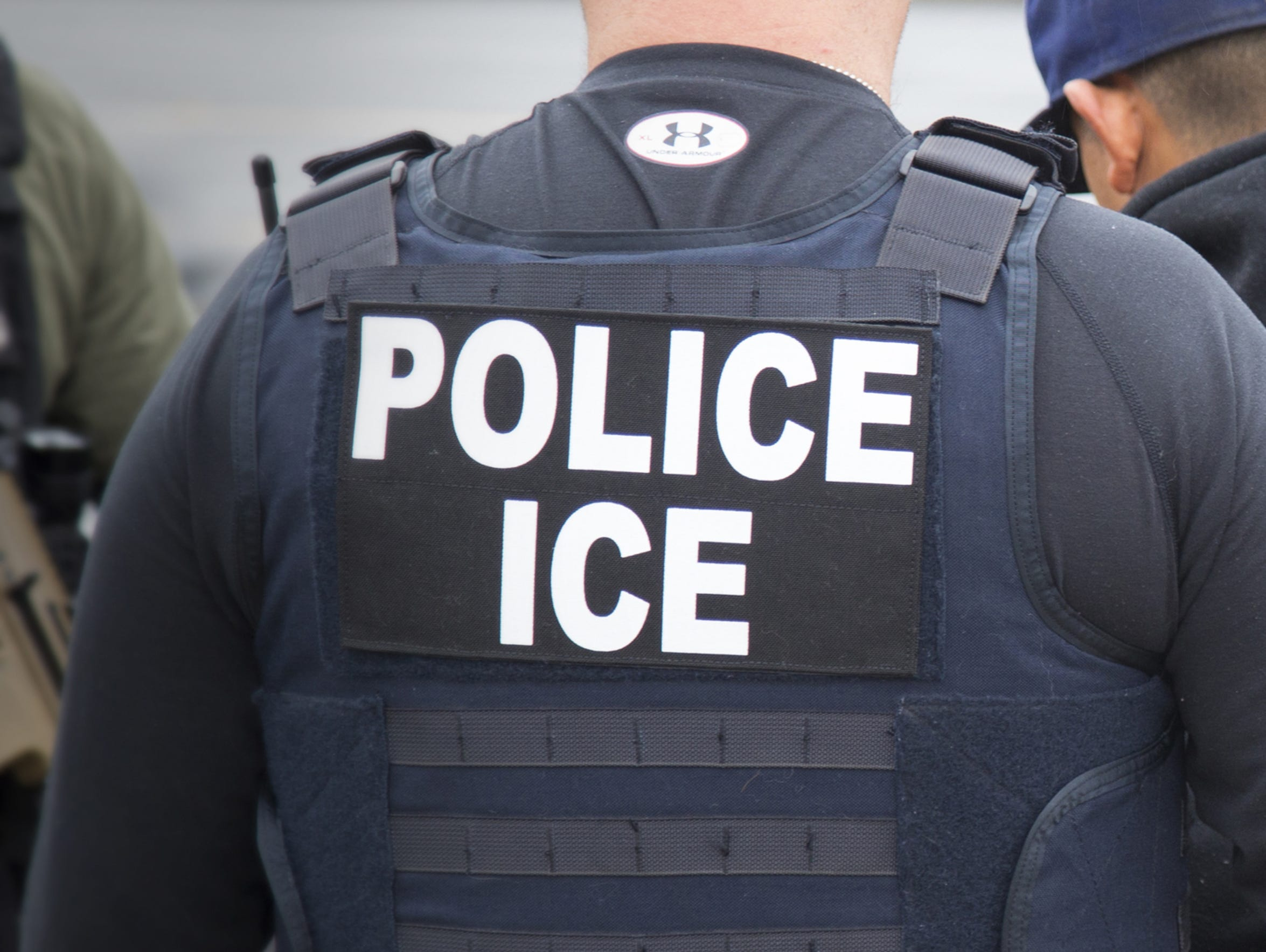 ICE agents illustration