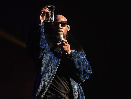 R. Kelly, seen performing in Atlanta last December,