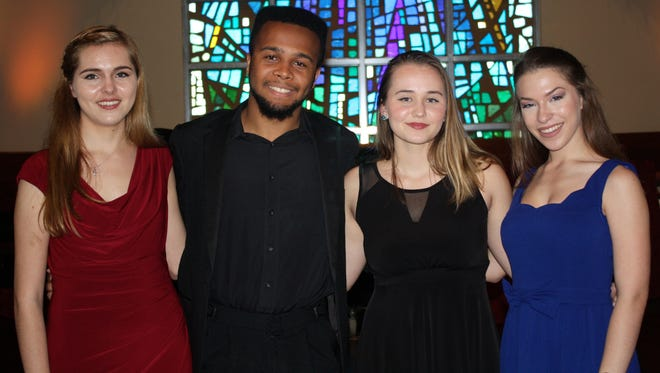 Winners in the 5th Annual Young Artist Vocal Competition included these students from Palm Beach Gardens and Wellington. They are, from left,Ashlyn Taylor, Dylan Melville, Alexandra Slusarenko and Skyler Sajewski.