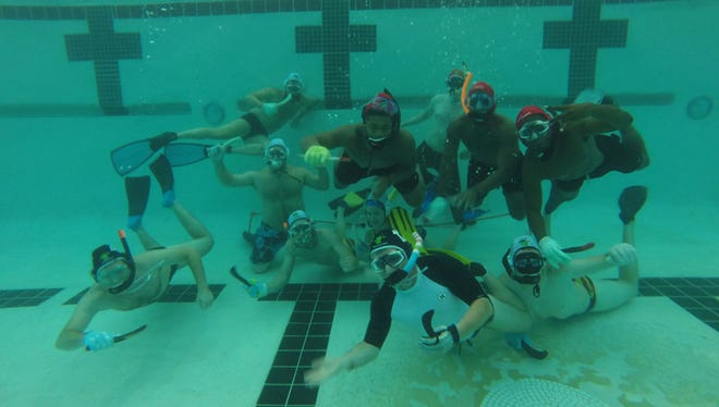 The Phoenix Underwater Hockey Club plays three times a week at the Sun Devil Fitness Complex in Tempe.