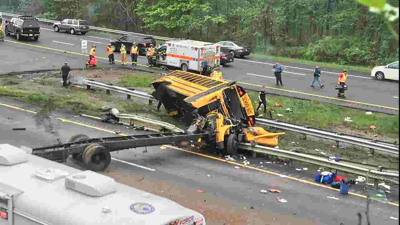 Deadly NJ school bus crash on Route 80 in Mount Olive