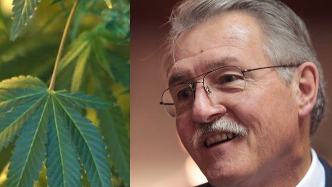 Senate Leader David Long (top) questioned the purpose of an amendment by then-Sen. Brent Steele (below) and feared it might be part of an effort to legalize marijuana.