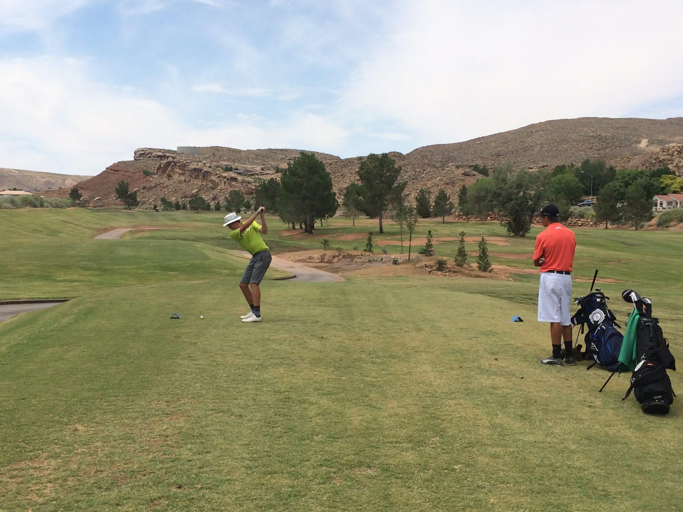 Desert Hills' Blake Amick competes against Beaver's