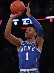 Duke point guard Trevon Duval provides athleticism and key playmaking for Coach K and the Blue Devils.