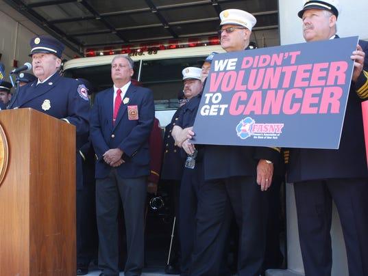 Fire cancer bill press conference in Valhalla
