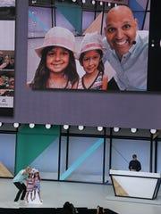 Anil Sabharwal demonstrates updates to Google Photos