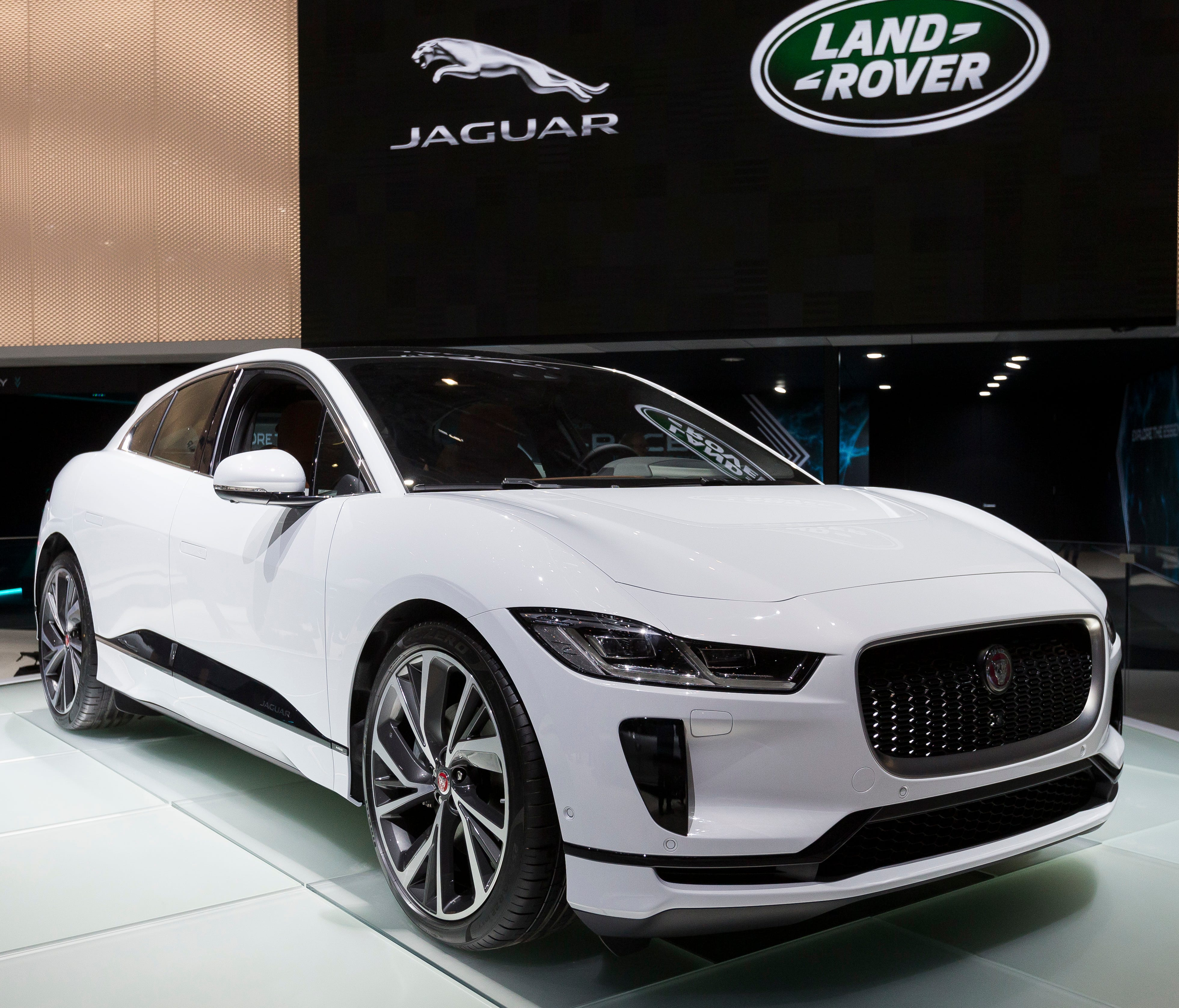 The New Jaguar I-PACE is presented during the press day at the 88th Geneva International Motor Show in Geneva, Switzerland. The 2019 Jaguar I-Pace is an all-electric SUV meant to compete with the Tesla Model X.