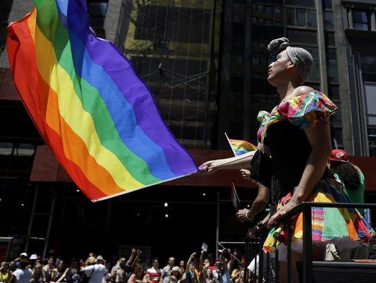AP GAY PRIDE PHOTO GALLERY A USA NY