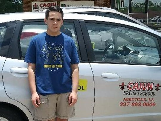 Chase Gaspard, 15, took driver's ed at Cajun Driving