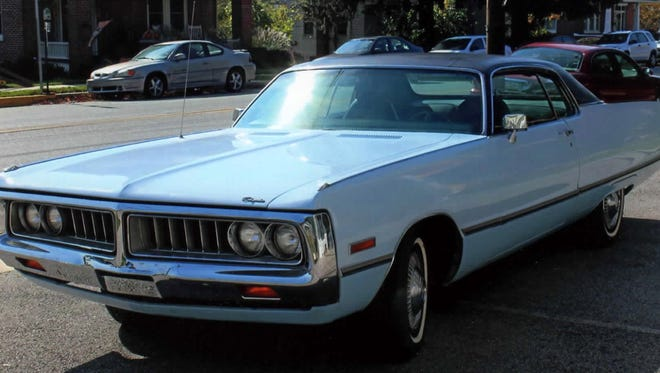 Richard Sloat bought this '72 Chrysler in 1976. He sold it this year to a collector in Germany.