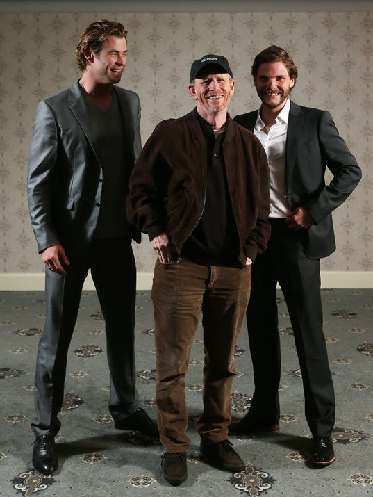 Hemsworth, Howard and Bruhl on 'Rush'