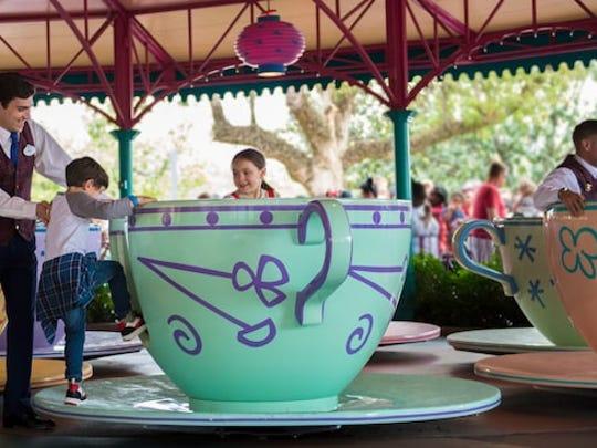 The Tea Cups ride at Walt Disney World.