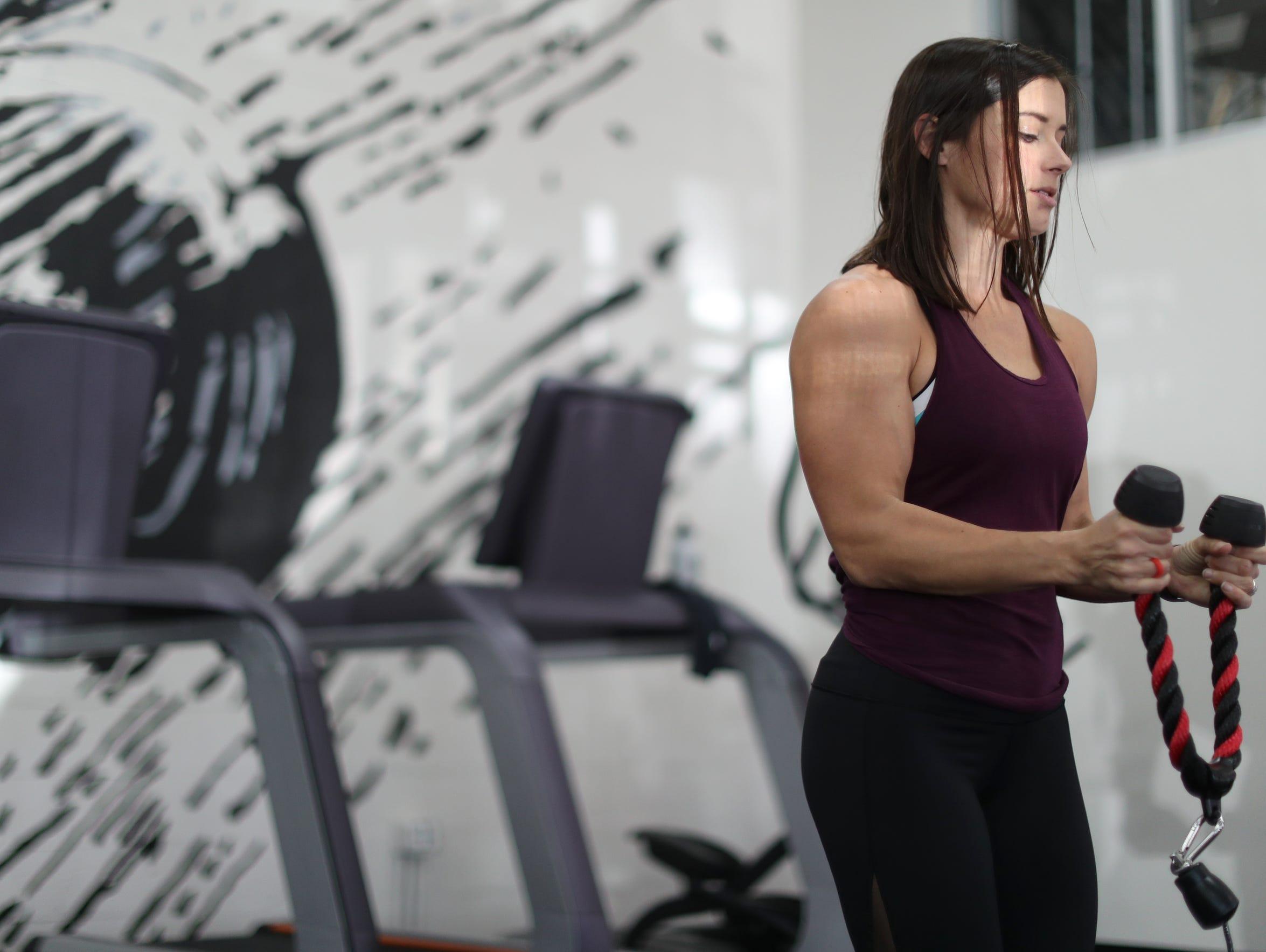 Jennifer Powell, who owns the franchise fitness center