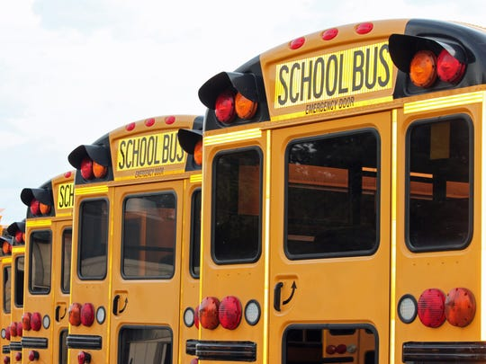 About 10 supervisors and workers are entrusted with purchasing parts for school district trucks, cars, buses and other vehicles.