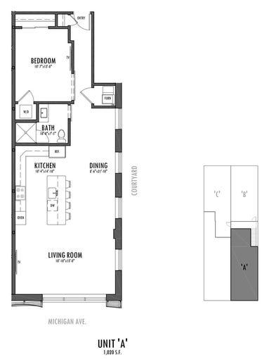 Unit A is a second-level corner unit facing southeast