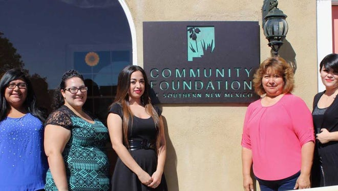 Recipients of the Community Foundation of Southern New Mexico SpringBoard! scholarship are Shawnee Arcineiga, Amanda Rodriguez, Lizet Martinez, Alma Balderrama and Luciana Chavez.