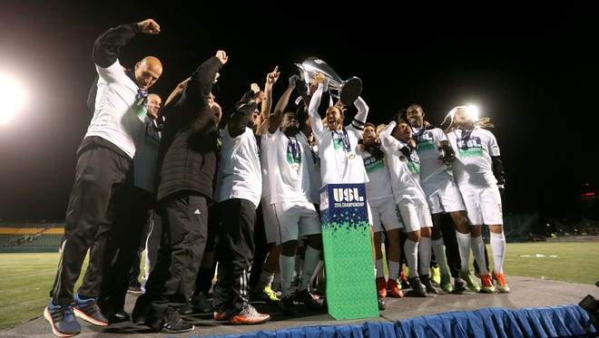 The Rhinos were without their two top scorers in last October's USL Championship game but still rallied for a 2-1 comeback win over the L.A. Galaxy II to win the club's first title since 2001.